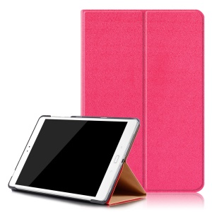 Sand-like Texture Leather Smart Cover with Stand for Asus Zenpad 3S 10 Z500M - Rose