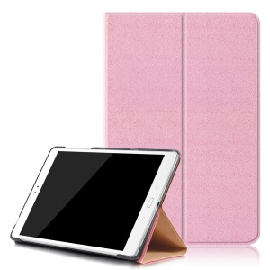 Sand-like Texture Stand Leather Smart Shell for Asus Zenpad 3S 10 Z500M - Pink