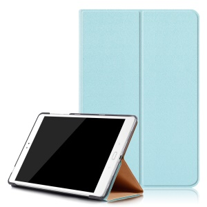 Sand-like Texture Wake/Sleep Leather Cover for Asus Zenpad 3S 10 Z500M - Baby Blue