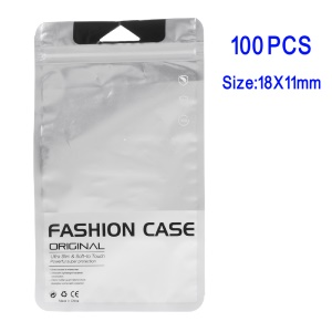 100Pcs/Lot Matte Clear Retail Package PP Ziplock Bags for iPhone 7 Plus/Samsung Note7 Cases, 18 x 11cm