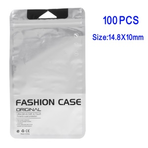 100Pcs/Lot Matte Retail Package PP Ziplock Bags for iPhone 7/Samsung Galaxy S7 Case, 14.8 x 10cm