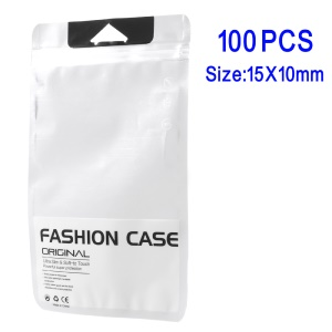100Pcs/Lot Transparent Zip Lock PP Packing Bags for iPhone 7/6s/6 Cases, 15 x 10cm