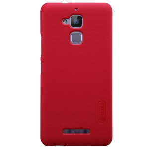 NILLKIN Frosted Shield PC Shell for Asus Zenfone 3 Max ZC520TL + Screen Protector - Red