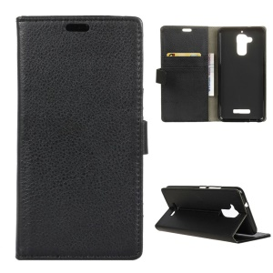 For Asus Zenfone 3 Max ZC520TL Litchi Grain Wallet Stand Leather Case - Black