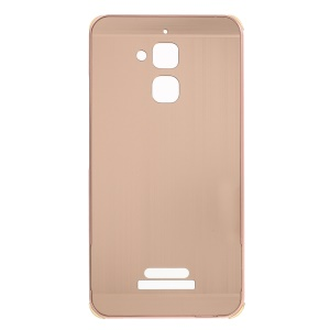 Brushed Plastic + Aluminum Alloy Plated Hard Cover for Asus Zenfone 3 Max ZC520TL - Rose Gold