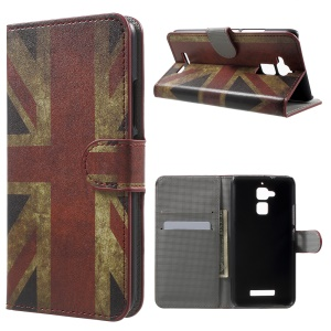 Wallet Leather Patterned Flip Cover for Asus Zenfone 3 Max ZC520TL - Retro UK Union Jack