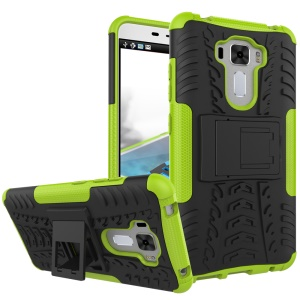 Tire Pattern PC + TPU Shell Case Cover for Asus Zenfone 3 Laser ZC551KL - Green