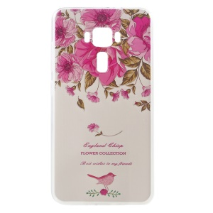 Embossed Pattern TPU Soft Case for ASUS ZenFone 3 ZE552KL - Blooming Flowers