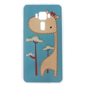 Embossment TPU Mobile Cover for ASUS ZenFone 3 ZE552KL - Cute Giraffe