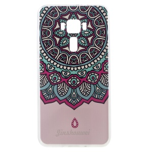 Embossed Pattern TPU Cellphone Case for ASUS ZenFone 3 ZE552KL - Mandala