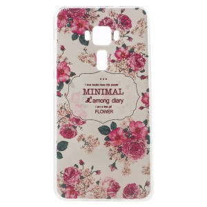 Embossed Pattern TPU Gel Case for ASUS ZenFone 3 ZE552KL - Pretty Flowers