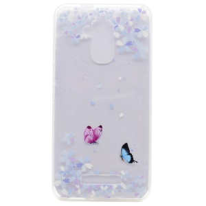 Pattern Printing TPU Shell for Asus Zenfone 3 Max ZC520TL - Butterflies and Flowers