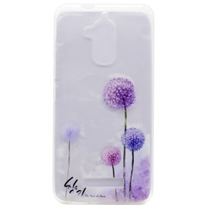 Pattern Printing TPU Mobile Phone Case for Asus Zenfone 3 Max ZC520TL - Dandelions Pattern