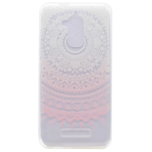 Pattern Printing TPU Cover for Asus Zenfone 3 Max ZC520TL - Pink Flower