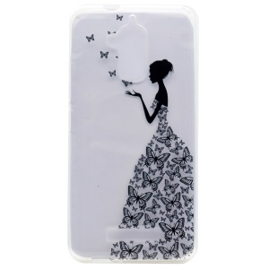 Pattern Printing TPU Case Accessory for Asus Zenfone 3 Max ZC520TL - Butterfly Girl