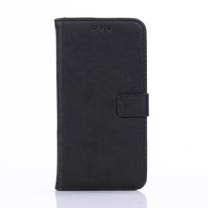 Retro Style Leather Wallet Stand Phone Case for Asus Zenfone Go ZB500KL - Black