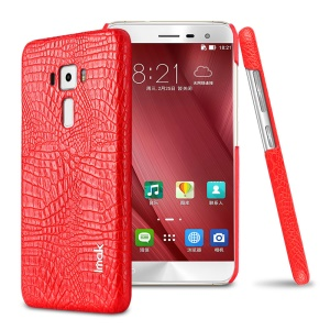 IMAK Ruiyi Series Crocodile Texture Leather Coated PC Hard Cover for Asus Zenfone 3 ZE552KL - Red