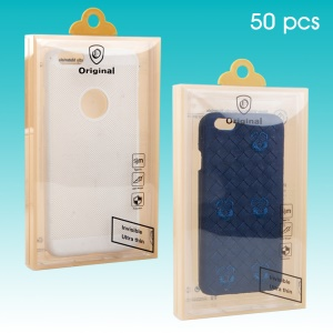 50Pcs/Lot Retail PVC Package Packaging Box for iPhone 7 / 7 Plus Cases, Max Size: 174 x 104 x 20mm (KJ-665)