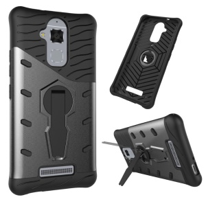Armor PC + TPU Hybrid Case with Kickstand for Asus Zenfone 3 Max ZC520TL - Grey