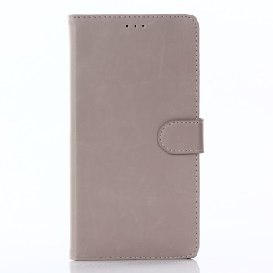 Wallet Leather Stand Cell Phone Casing for Asus Zenfone 3 Ultra ZU680KL - Grey
