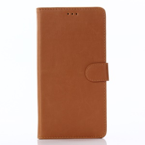Wallet Leather Mobile Phone Shell for Asus Zenfone 3 Ultra ZU680KL - Brown