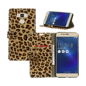Leopard Pattern Cell Phone Case Leather Stand Wallet for Asus Zenfone 3 Max ZC553KL