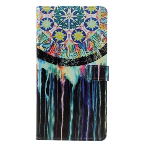 Pattern Printing Leather Cover Folio Magnetic Case for Asus Zenfone 3 Max ZC553KL - Dream Catcher