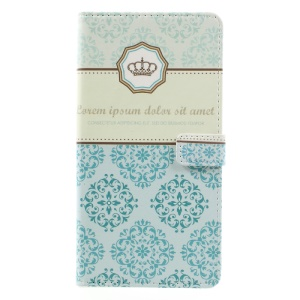 Pattern Printing Stand Leather Protective Case for Asus Zenfone 3 Max ZC553KL - Damask Flower