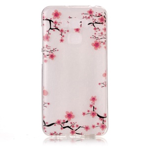 Pattern Printing IMD TPU Gel Case for Asus Zenfone 3 Max ZC553KL - Plum Blossom
