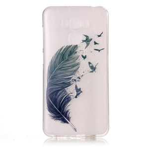 Pattern Printing IMD TPU Case Shell for Asus Zenfone 3 Max ZC553KL - Feather Pattern