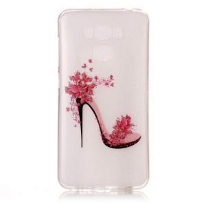 Pattern Printing IMD TPU Phone Case for Asus Zenfone 3 Max ZC553KL - High-heeled Shoes