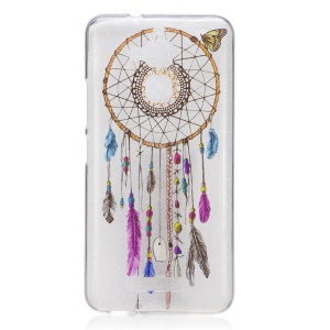 IMD Printing Pattern TPU Cover for Asus Zenfone 3 Max ZC520TL - Dreamcatcher and Butterfly