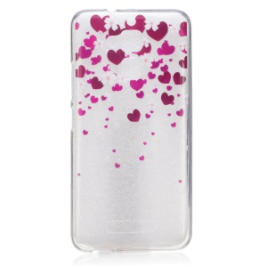 Clear TPU IMD Patterned Skin Cover for Asus Zenfone 3 Max ZC520TL - Hearts and Flowers