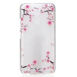 Patterned TPU IMD Soft Cover for Asus Zenfone 3 Max ZC520TL - Plum Blossom