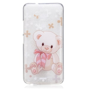 Patterned TPU IMD Mobile Cover for Asus Zenfone 3 Max ZC520TL - Cute Bear Doll