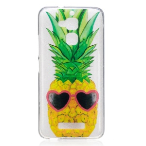 IMD Printing Pattern TPU Case for Asus Zenfone 3 Max ZC520TL - Heart Sunglasses Pineapple