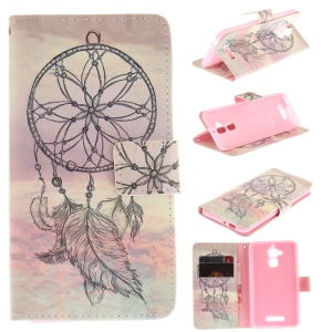 Patterned Leather Wallet Flip Case for Asus Zenfone 3 Max ZC520TL - Dream Catcher