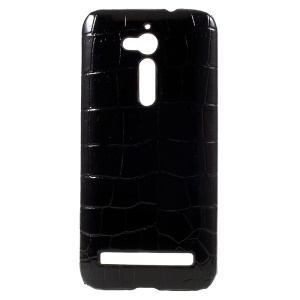 Crocodile PU Leather Coated Hard Case Cover for Asus Zenfone Go ZB500KL - Black