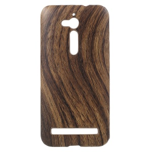 Wood Grain Leather Coated Hard Mobile Case for Asus Zenfone Go ZB500KL