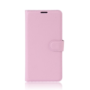 Litchi Grain Leather Magnetic Stand Cover for Asus Zenfone 3 Zoom ZE553KL - Pink
