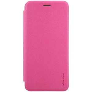 NILLKIN Sparkle Series Super Thin Leather Skin Cover for Asus Zenfone 3s Max ZC521TL - Rose