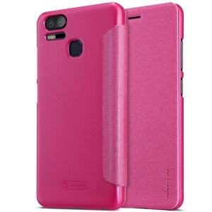 NILLKIN Sparkle Series Leather Folio Flip Case for Asus Zenfone 3 Zoom ZE553KL - Rose