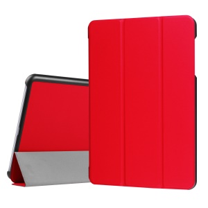 Tri-fold Stand Leather Protection Case for Asus Zenpad Z10 ZT500KL 9.7-inch - Red