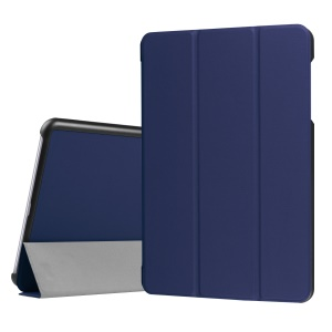 Leather Tri-fold Stand Protective Cover for Asus Zenpad Z10 ZT500KL 9.7-inch - Dark Blue