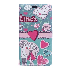 Patterned Leather Card Slots Case for Asus Zenfone Live ZB501KL - Love Elements