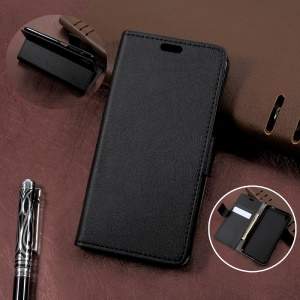 Wallet Leather Stand Case for Asus Zenfone Live ZB501KL - Black