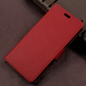 Wallet Leather Magnetic Case for Asus Zenfone Live ZB501KL - Red