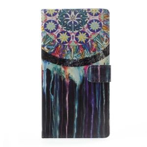 Pattern Printing Leather Wallet Cover Case for Asus Zenfone Live ZB501KL - Dream Catcher