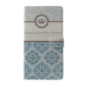 Pattern Printing Leather Wallet Case Accessory for Asus Zenfone Live ZB501KL - Damask Flower