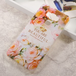 Embossed Pattern TPU Back Case for Asus Zenfone 3 Max ZC553KL - Quote and Beautiful Flowers